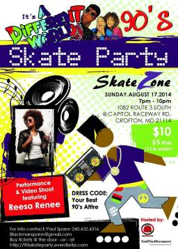 It's A Different World 90s Skate Party